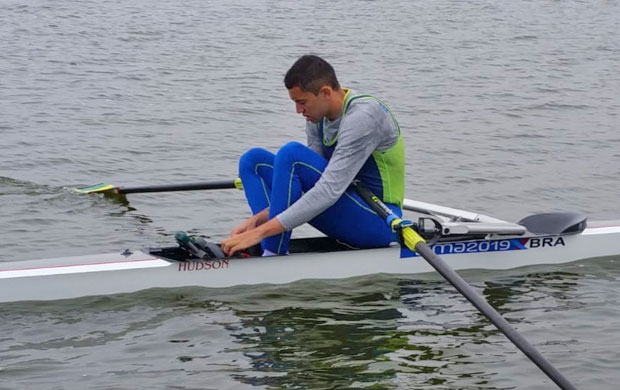Uncas Tales Batista disputou a Eliminatória do Single Skiff Masculino (M1x)